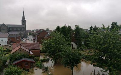 Ecolo Sombreffe réagit aux inondations exceptionnelles survenues ce mois de juillet